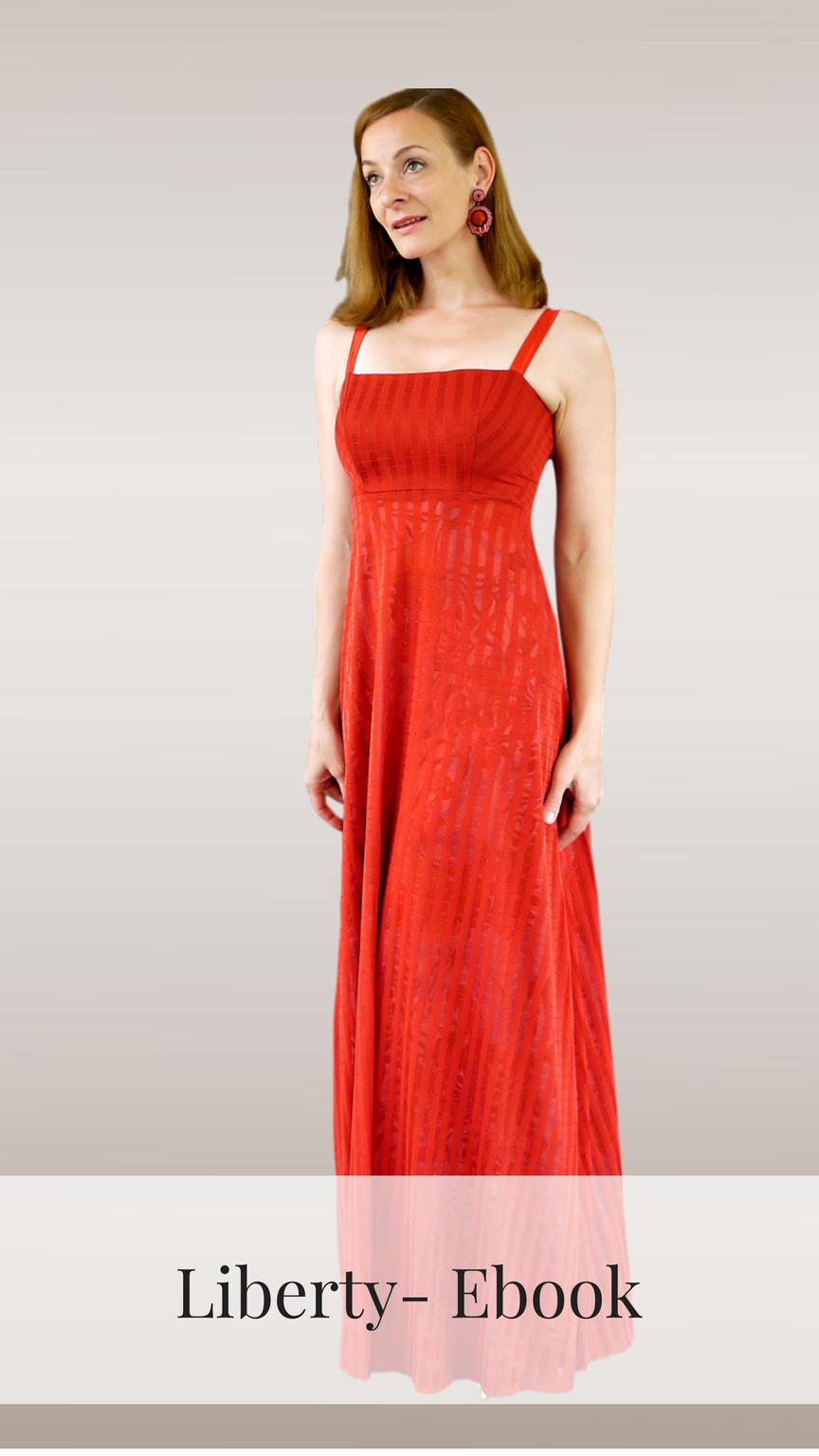 liberty - kleid 32-52 | kleider, sommerkleid, lange kleider