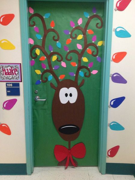 Rudolph the Red Nose Reindeer Christmas Door Decoration Ideas - Rudolph The Red Nose Reindeer Christmas Door Decoration Ideas Best