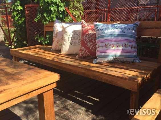 Fotos de Juego de living jardin para exterior en madera reciclada ...