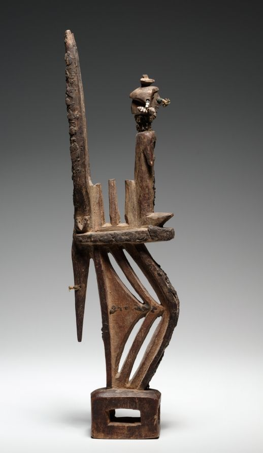 Western Sudan, Mali, Bamana , early 20th century, wood, metal, beads, shells, string, Overall - h:45.20 w:4.80 d:12.40 cm (h:17 3/4 w:1 7/8 d:4 7/8 inches). Gift of Katherine C. White 1962.307