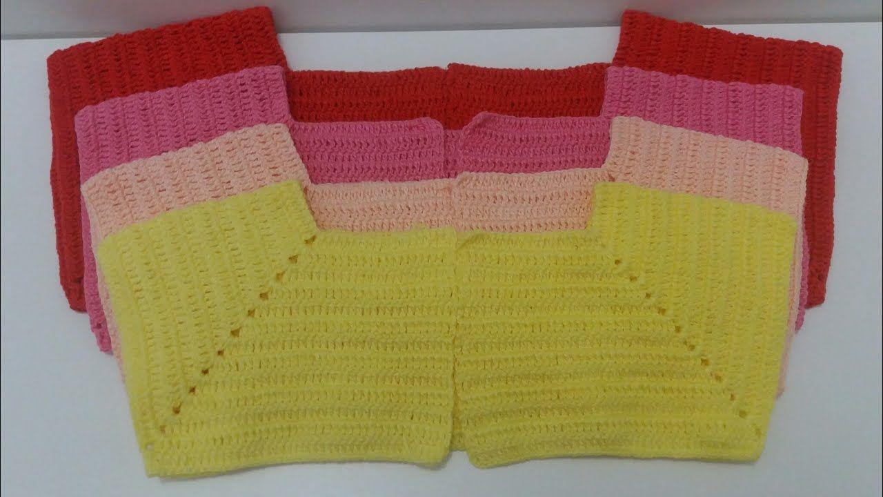 Pala De Crochê De 1 A 12 Anos Bebes Blusa De Croche