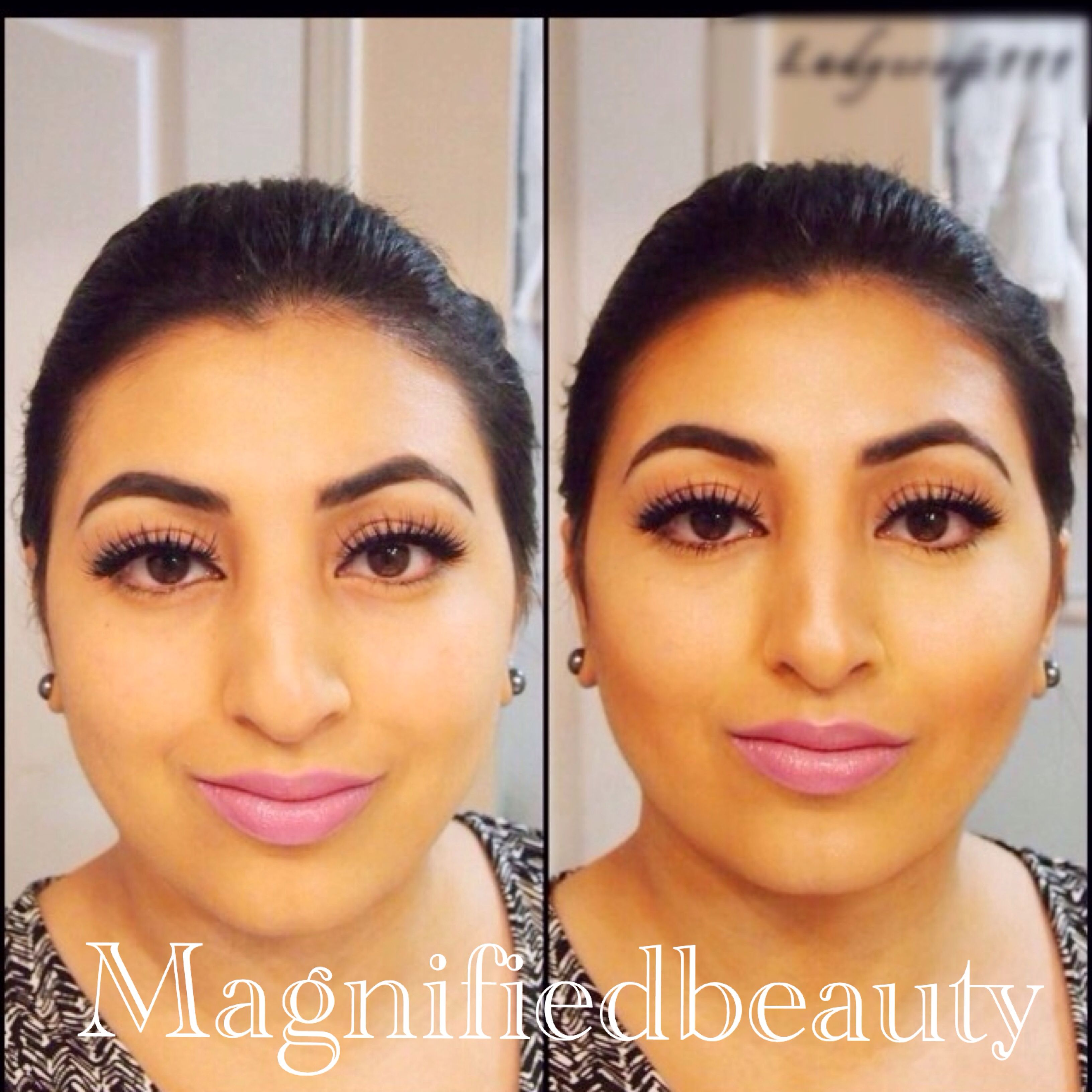 Anastasia contour kit-transformation by @magnifiedbeauty on Instagram