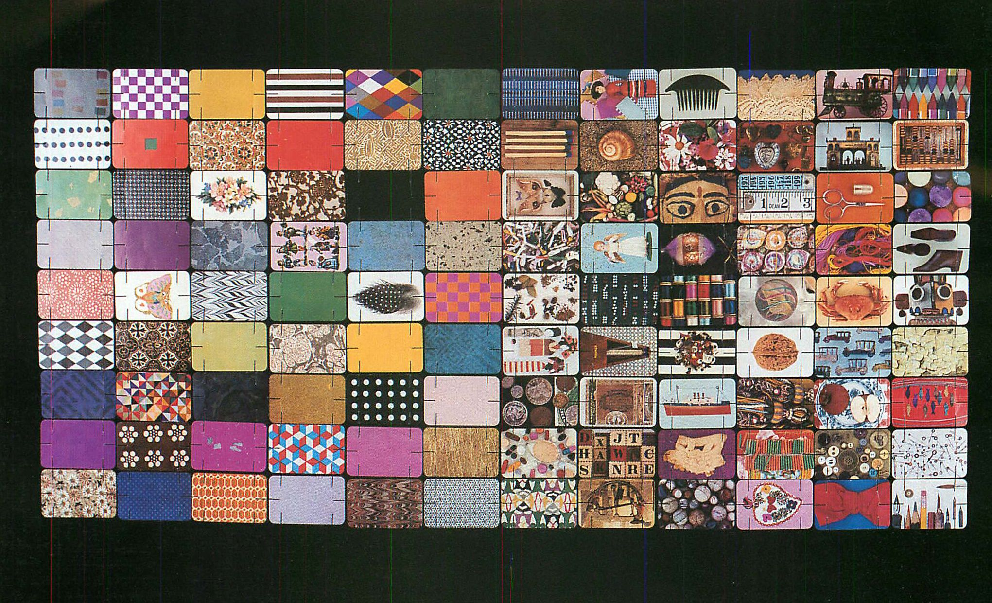 Originally there were two #Eames House of Cards, and all are seen here:  Pattern Deck and Picture Deck