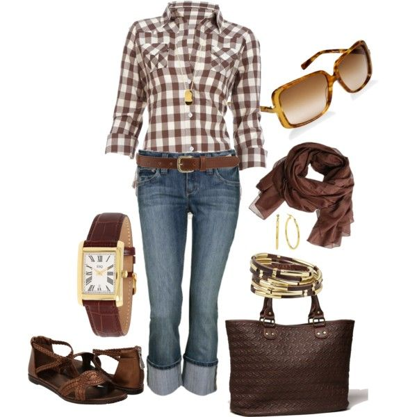 """Jeans & Chex"" chocolate brown - fair time!"