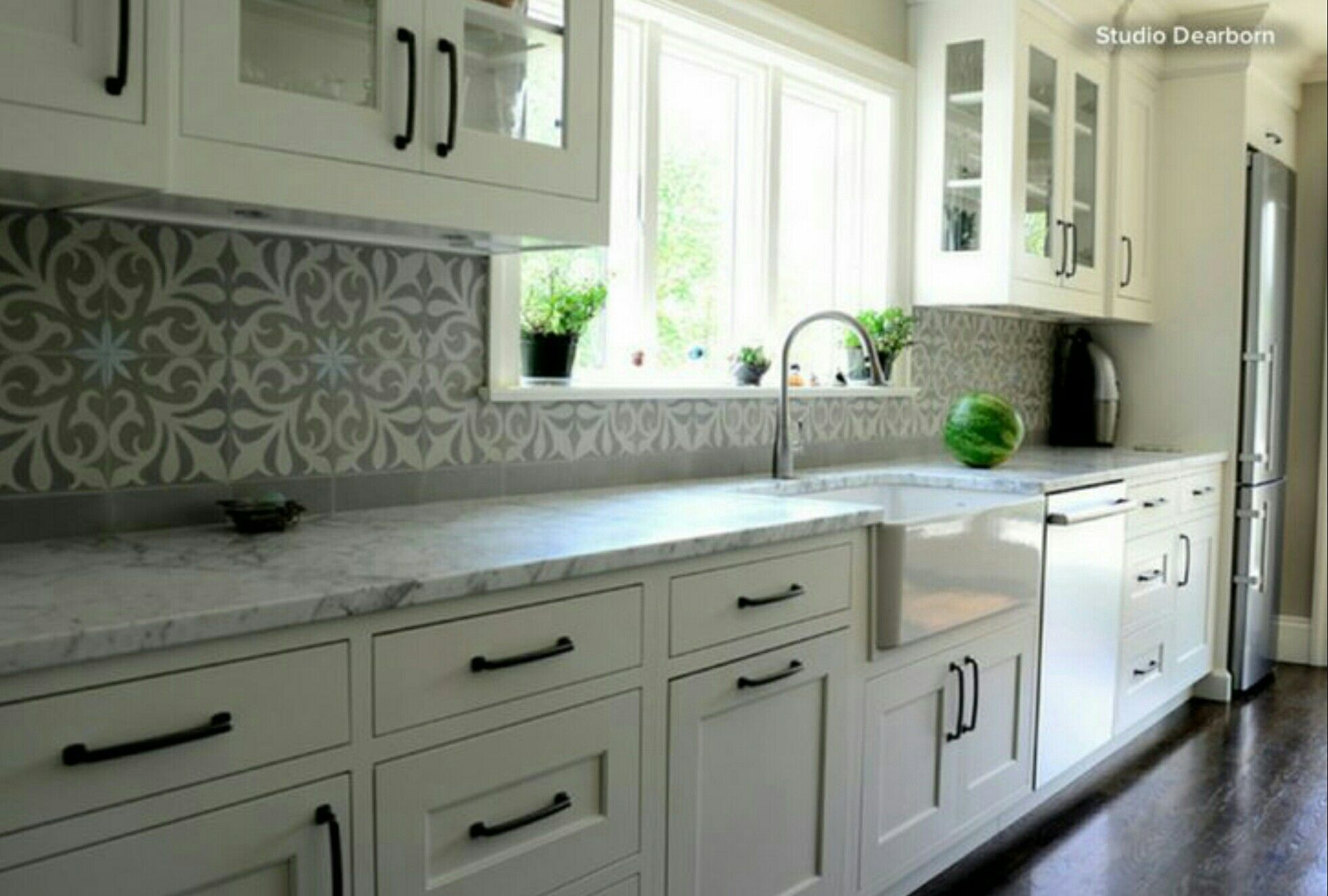 Kitchen With Grey Moroccan Tiles Kitchen Tiles Design Marble