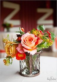 """Coral, red, gold and orange for a barn wedding - Photo by Kori"""" data-componentType=""""MODAL_PIN"""