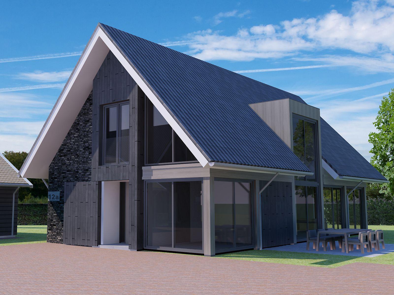 Impressie vrijstaande woning building design architectuur for Huizen architectuur