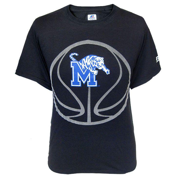 sale retailer c52b5 c332f Black Memphis Tigers Basketball T-Shirt | Tiger gear we love ...