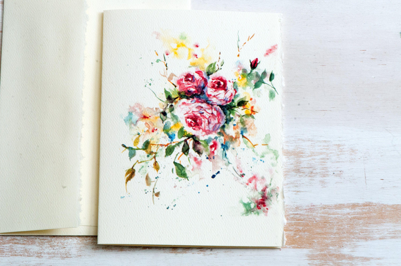 Roses print watercolor roses print art cards floral greeting roses print watercolor roses print art cards floral greeting card bridal gift kristyandbryce Images