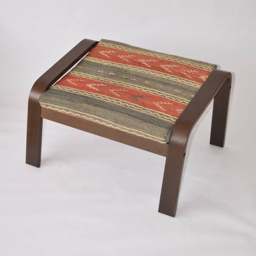 poang chair cover, kilim ottoman, bohemian furniture, poang, poang cover,  ottoman