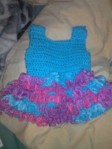 Cotton candy colored crocheted ballerina dress....www.facebook.com/ANGIEANGSCrocheting