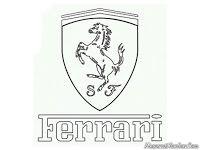 Gambar Logo Mobil Ferrari Untuk Diwarnai Mewarnai Gambar