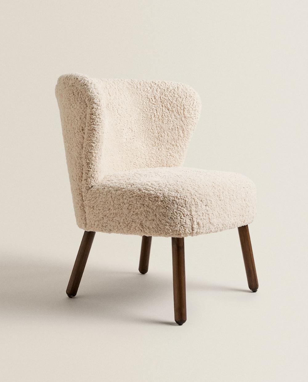 Image 2 Du Produit Siege Coton Boucle Zara Home Mobilier De Salon Table Bois