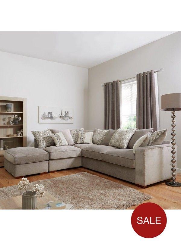 Coledale Left-Hand Fabric Corner Chaise Sofa