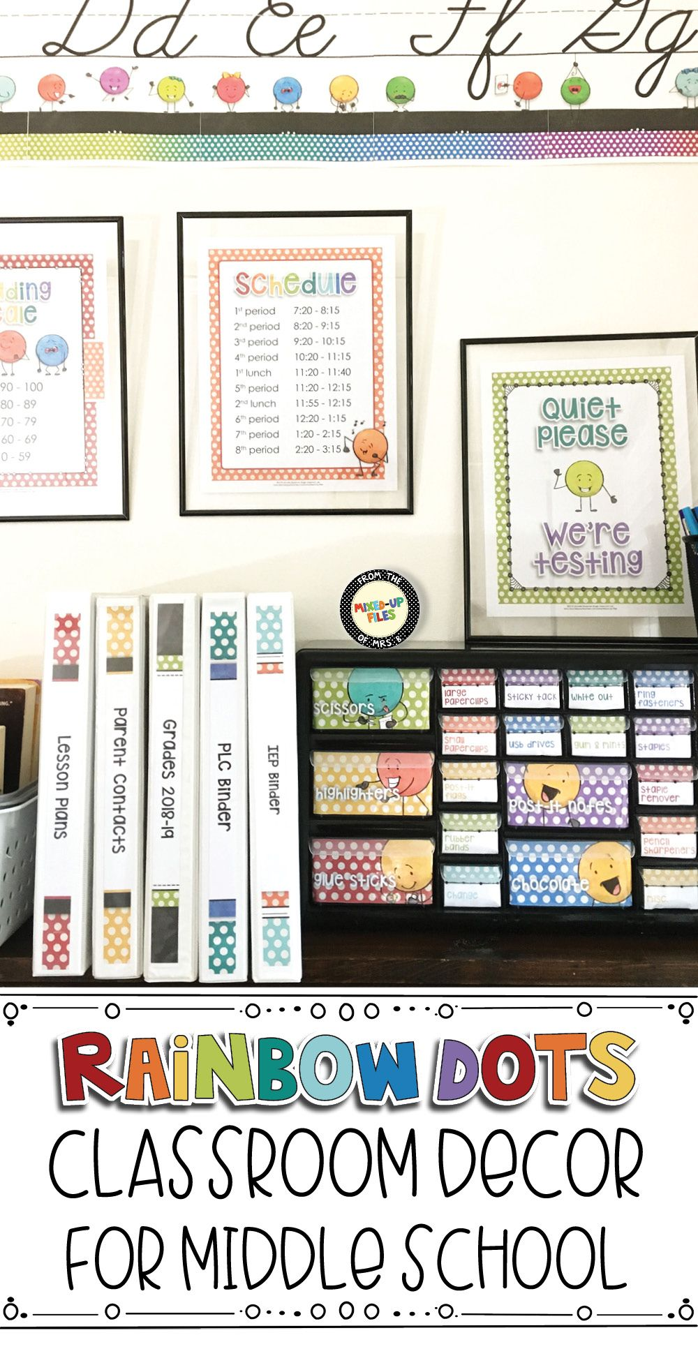 Organize And Decorate Your Middle School Classroom With Bright Rainbow