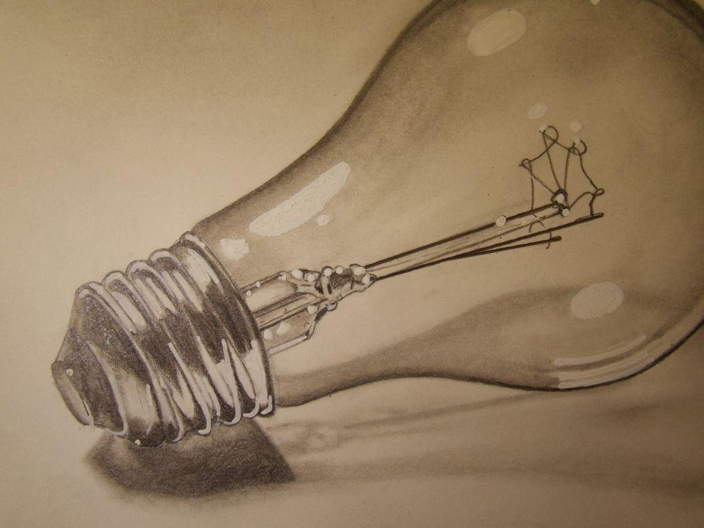 Pencil drawing inspiration light bulb pencil drawing for Inspirational pencil sketches