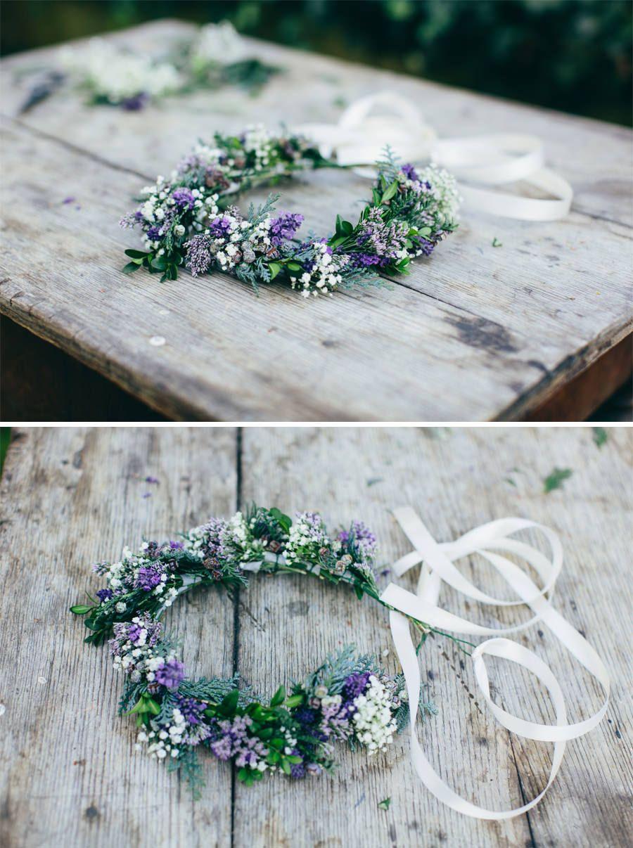 DIY flowercrown Blumenkranz frs Haar  Ideas DIY  Ideen zum Selbermachen  Pinterest