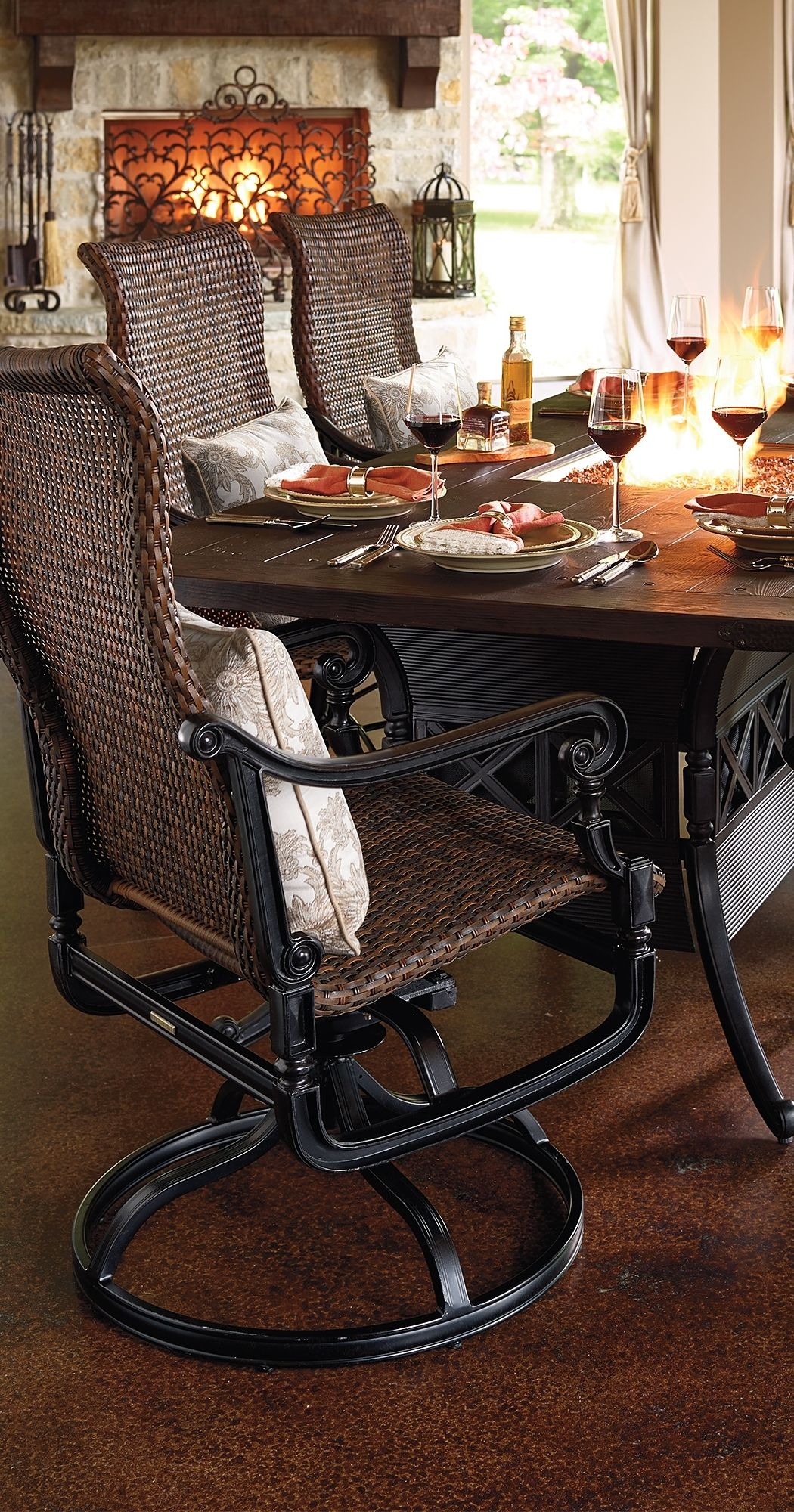 Equal Parts Elegance And Warmth, Our Carlisle Dining Fire Table Has A  Built In