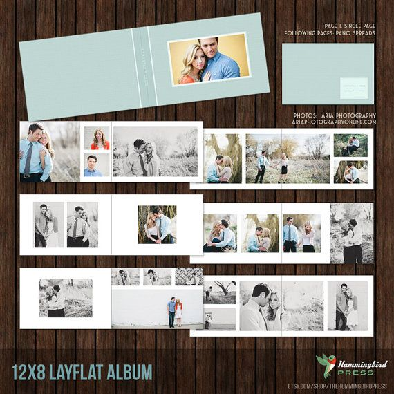 12x8 Layflat Album, Engagement Album, Guest Book, Album Template ...