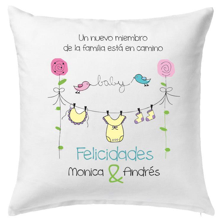 bfbd46d16 Cojín decorativo para Baby Shower Almohadas Personalizadas