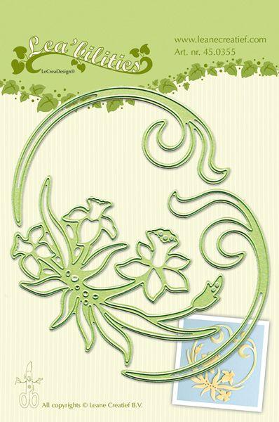 Flower Swirls Leabilities Embossing Folder