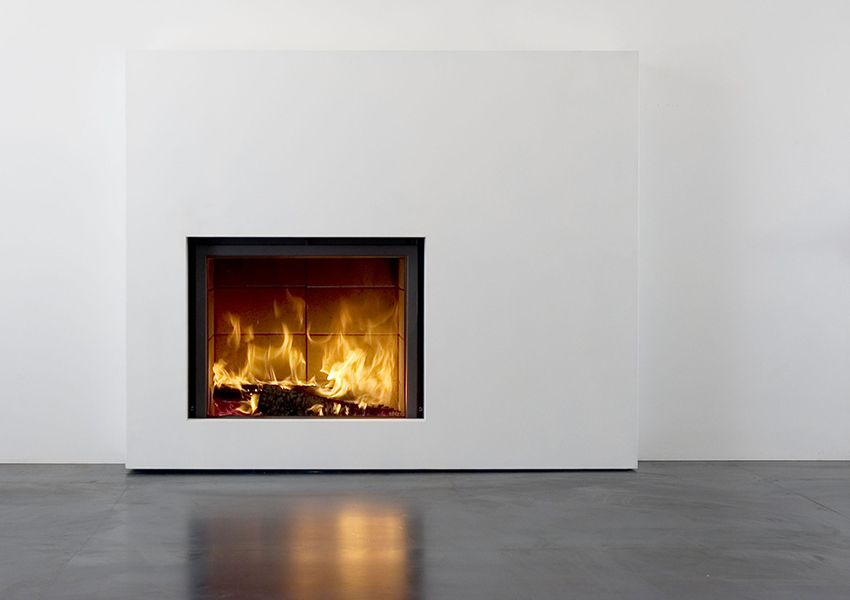 The Stv 21 Wood Burning Fireplace Insert With Retractable Glass