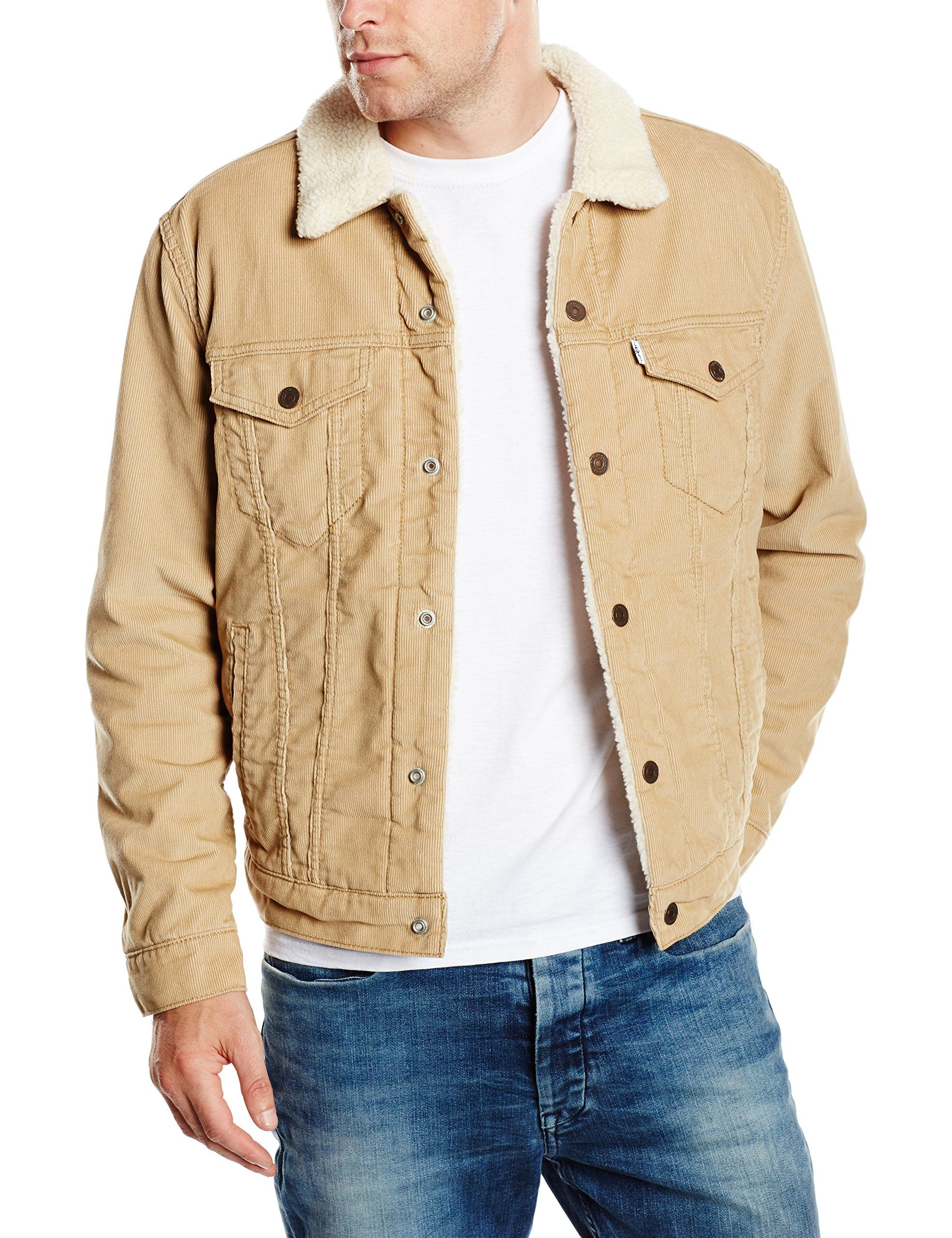 Type Small Trucker Levi's chino Jacket 3 Beige Sherpa Men's v7wx4PqZ