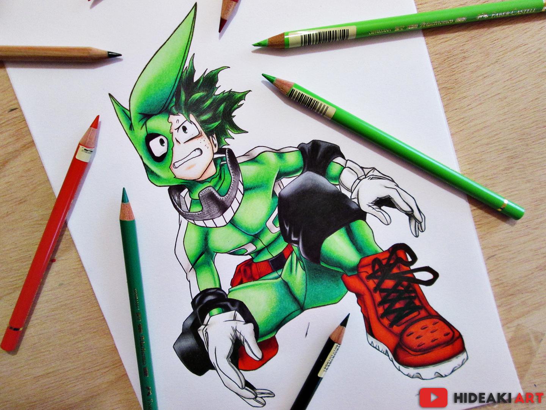 My Drawing Of Izuku Midoriya Deku From My Hero Academia