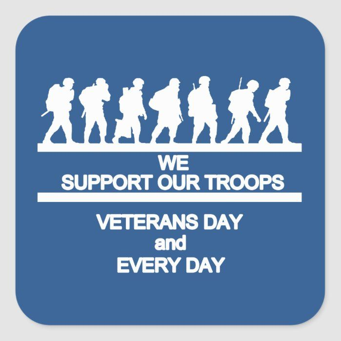 Support Veterans Day Stickers