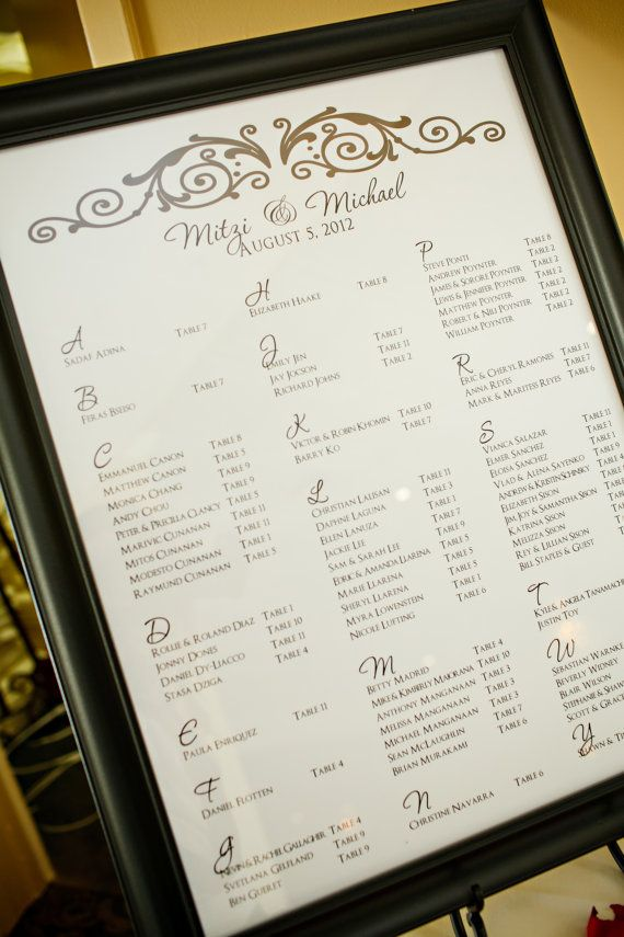 Custom Seating Chart Music Design Custom Seating Chart Wedding