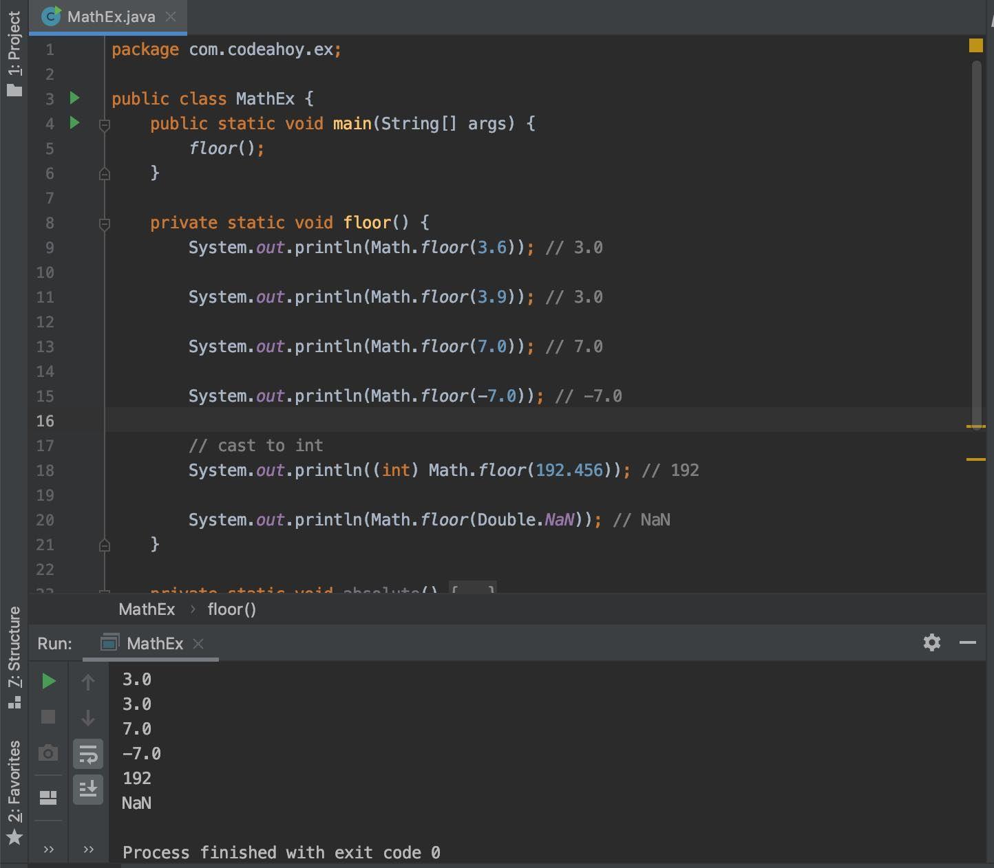 Java Math Floor Method With Examples In 2020 Math Java