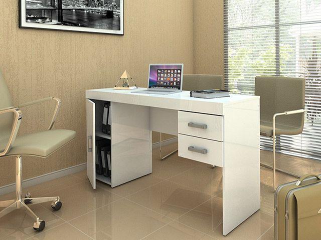 Mesa Para Computador Escrivaninha Miranda 1 Porta 2 Gavetas