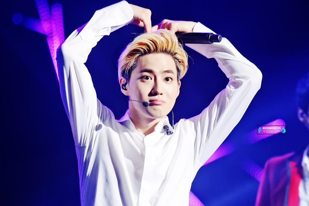 big heart from leader suho