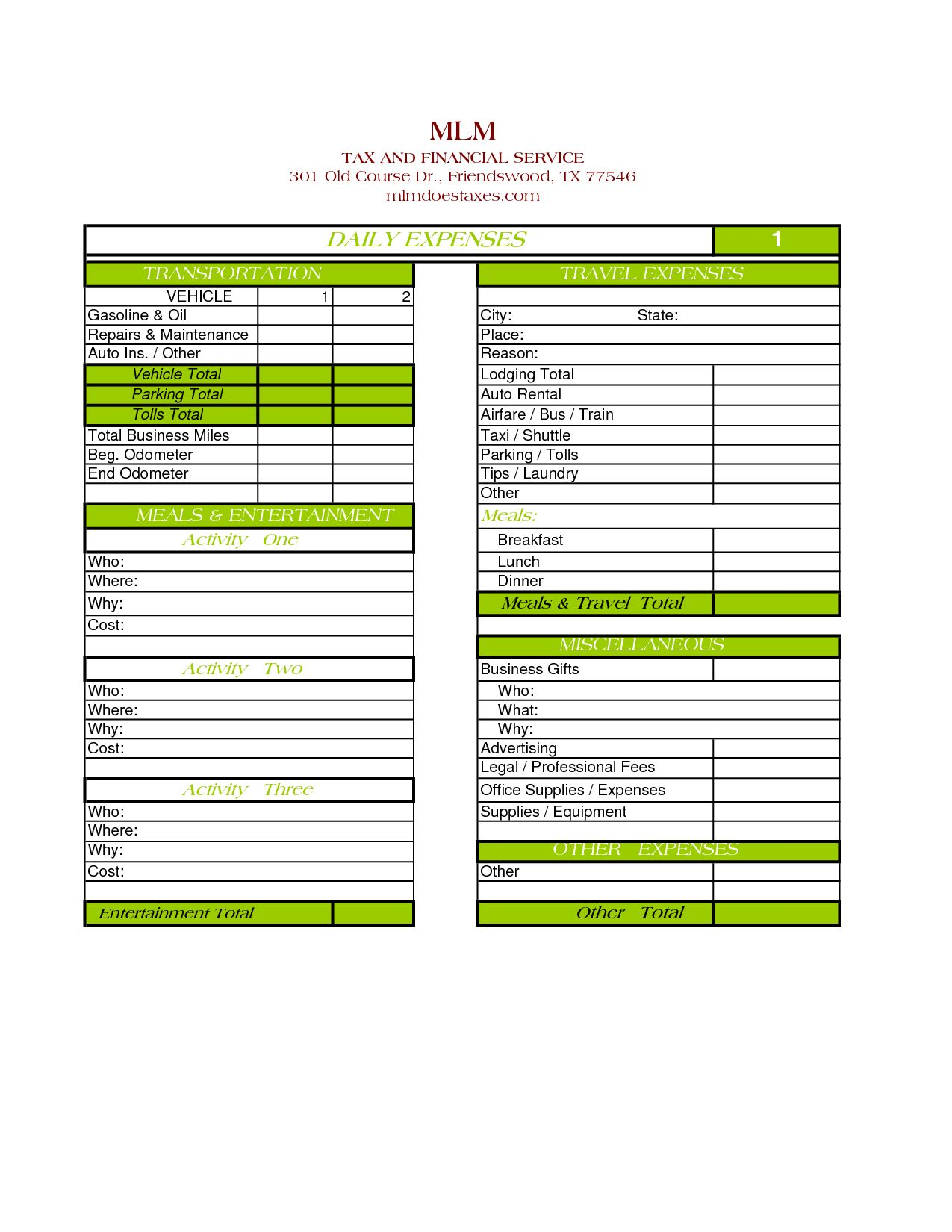 Outstanding Sample Daily Expense Sheet For Personal Use