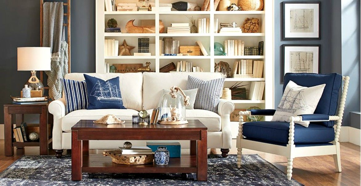 50 Inspired Ideas For Nautical Home Decor Coastal living rooms