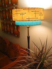 Mid century vintage style 2 tier fiberglass lamp shade modern mid century vintage style 2 tier fiberglass lamp shade modern atomic retro it18i mozeypictures Gallery