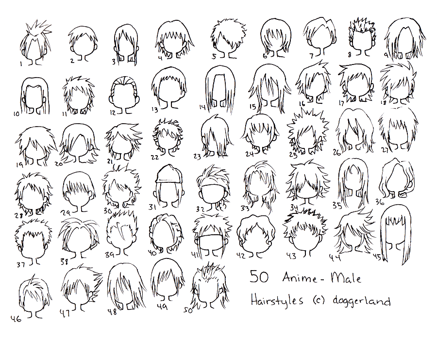 Anime Male Hair Styles By Totamikun On Deviantart Anime Boy Hair Anime Hairstyles Male Anime Hair
