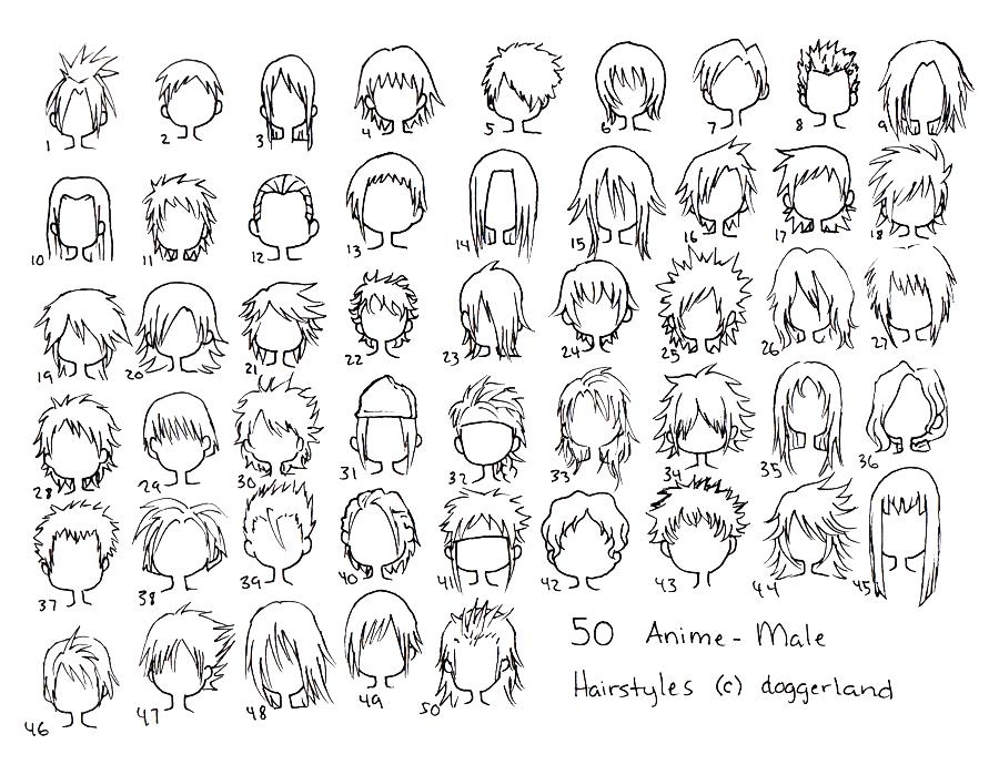 Anime Male Hair Styles By Totamikun.deviantart.com
