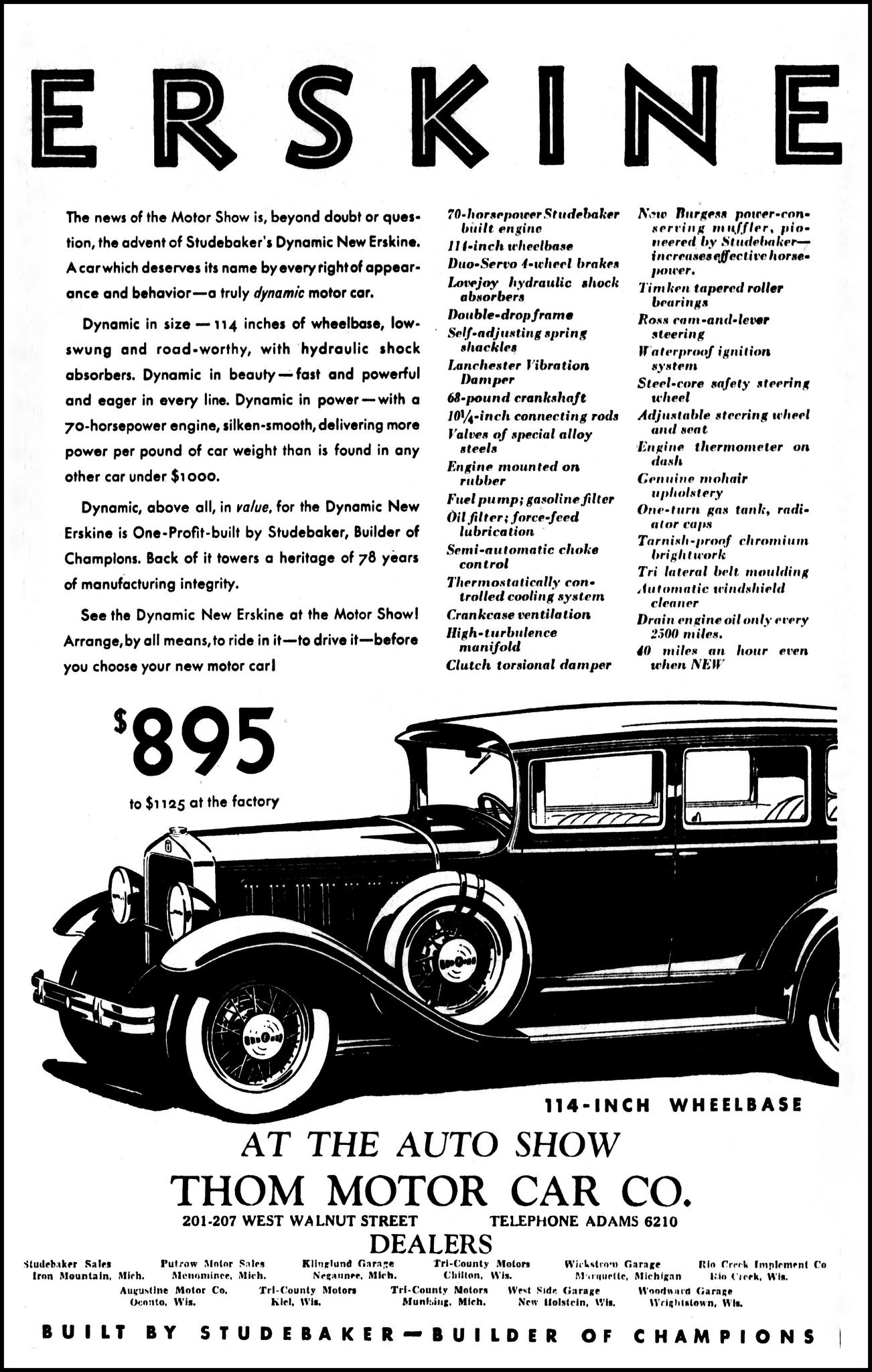 Vintage Advertising For The 1930 Erskine Automobile In Green Bay Wiring Diagram 1976 Chevy Monza Fuel Pump Wisconsin Press Gazette Newspaper February 12 And
