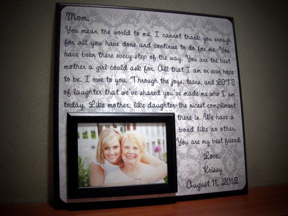 personalized mother of the bride wedding frame parent gift thank you mom unique - Mother Of The Bride Picture Frame