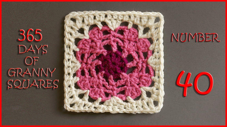 365 Days of Granny Squares Number 40   cuadrados al crochet ...