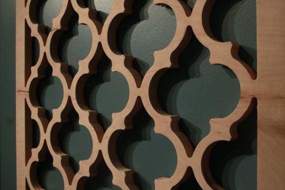 Moroccan Lattice Wall Hanging 24 X 24 X 75 Wood By Latticemaster 40 00 Lattice Wall House Paint Exterior Arabesque Tile
