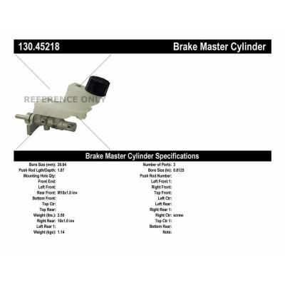 The Centric Parts brake hydraulic program is the most complete and up-to-date in the industry and includes Brake Master and Wheel Cylinders, Brake Hoses, Caliper And Wheel Cylinder Repair Kits And Remanufactured Power Boosters. Centric Parts Brake Master Cylinders match original equipment parts in quality, configuration and fitment. Cylinders are complete with reservoirs, switches, and floats and are offered with the original aluminum casting body design where applicable.