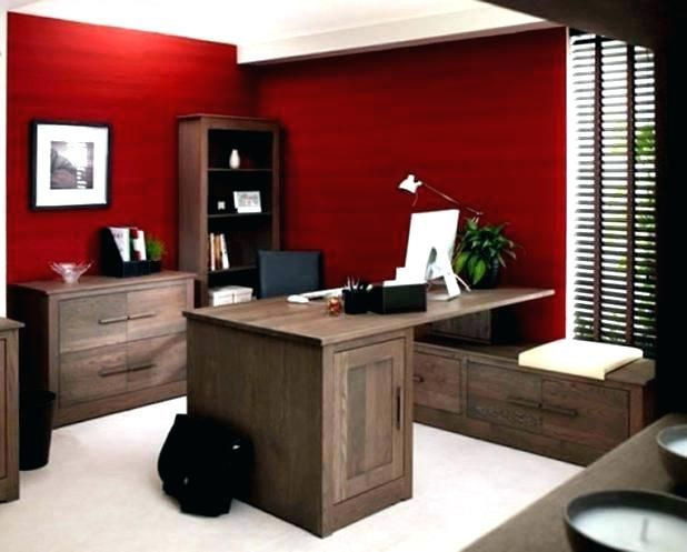 20 gorgeous red office designs home office colors best on best wall color for home office id=30352