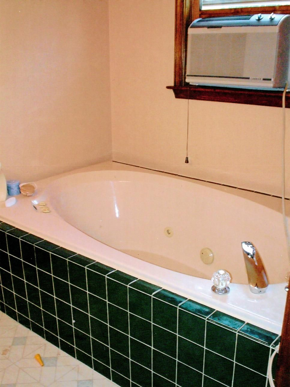 BudgetFriendly Bathroom Makeovers Hgtv Jetted Tub And Tubs - Green tile bathroom makeover