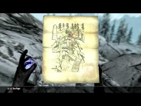 The Elder Scrolls V: Skyrim Treasure Map Guide | Skyrim ...