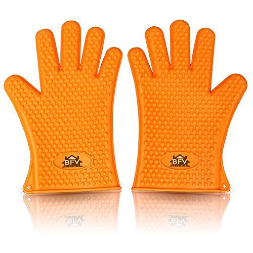 Cooking Gloves Heat Resistant Premium Insulated Grilling Gloves For Cooking, Pot Holders, Oven Mitt and BBQ Gloves With 444 Page Grilling Recipes Ebook Included   Cooking Gloves Heat Resistant Premium Insulated Grilling Gloves For Cooking, Pot Holders, Oven Mitt and BBQ Gloves With 444 Page Grilling Recipes Ebook Included  MAKE HEATGRIPS YOUR NEW KITCHEN ACCESSORY FOR INDOOR COOKING/BBQ'ING AND CAMPING        OUR 100% FDA, SILICONE GRILLING GLOVES HEAT RESISTANT and allow you to expe..