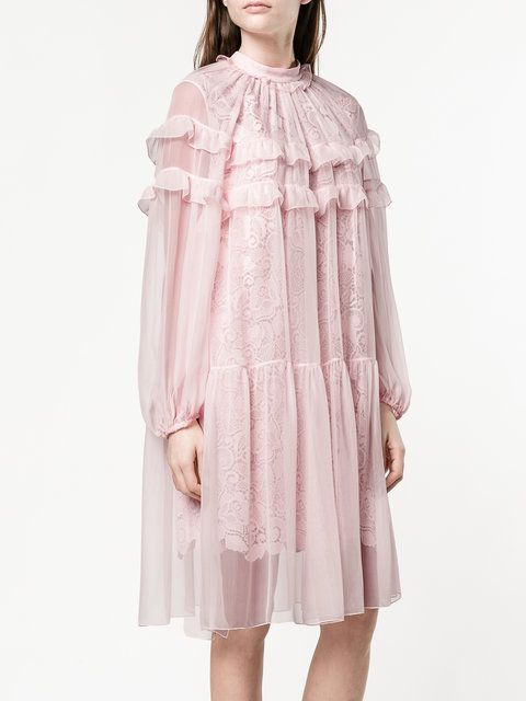 Nº21 ruffled embroidery dress