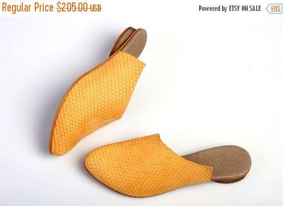Venta 30% amarillo sandalias mulas cuero sandalias por abramey