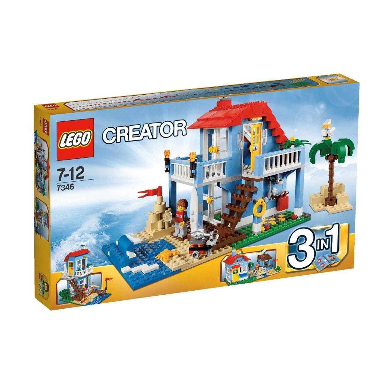 This is a cool beach house Lego creator house, Lego